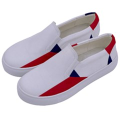 Flag Of France Kids  Canvas Slip Ons by abbeyz71