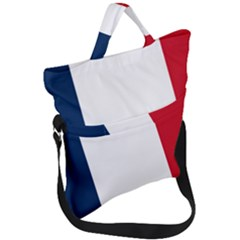 Flag Of France Fold Over Handle Tote Bag by abbeyz71