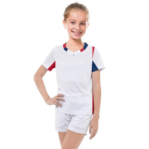 Flag Of France Kids  Mesh Tee And Shorts Set by abbeyz71