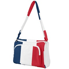 Flag Of France Front Pocket Crossbody Bag by abbeyz71
