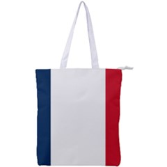 Flag Of France Double Zip Up Tote Bag by abbeyz71