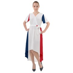 Flag Of France Front Wrap High Low Dress
