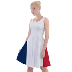 Flag Of France Knee Length Skater Dress by abbeyz71