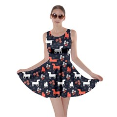 Bull Terrier Dog Silhouettes Skater Dress by trulycreative