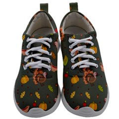 Thanksgiving Turkey Pattern Mens Athletic Shoes by Valentinaart