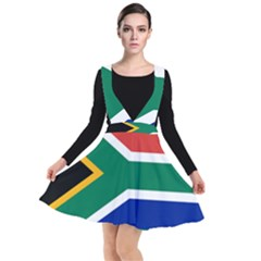 South Africa Flag Plunge Pinafore Dress