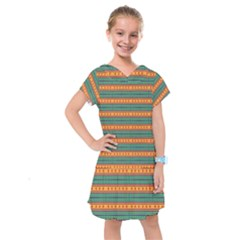 Background Texture Fabric Kids  Drop Waist Dress by Mariart