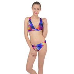 Abstract Background Colorful Pattern Classic Banded Bikini Set  by HermanTelo