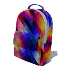 Abstract Background Colorful Pattern Flap Pocket Backpack (large)