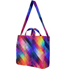 Abstract Background Colorful Pattern Square Shoulder Tote Bag