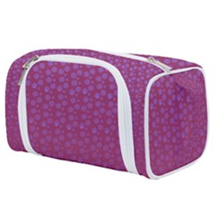 Background Polka Pattern Pink Toiletries Pouch