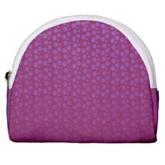 Background Polka Pattern Pink Horseshoe Style Canvas Pouch by HermanTelo