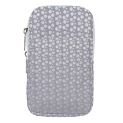 Background Polka Grey Waist Pouch (small) by HermanTelo