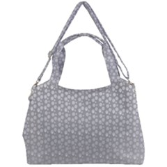 Background Polka Grey Double Compartment Shoulder Bag by HermanTelo