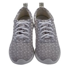 Background Polka Grey Women Athletic Shoes by HermanTelo