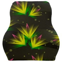 Floral Abstract Lines Car Seat Velour Cushion  by HermanTelo