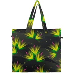 Floral Abstract Lines Canvas Travel Bag