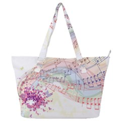 Music Notes Abstract Full Print Shoulder Bag