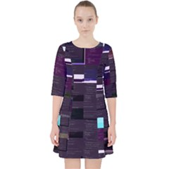 Xd009642 Tarpaulin s Linux-rs Glitch Code Dress With Pockets by HoldensGlitchCode