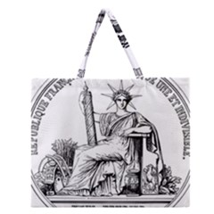 Great Seal Of France Zipper Large Tote Bag by abbeyz71