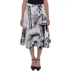 Great Seal Of France Perfect Length Midi Skirt by abbeyz71