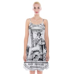 Great Seal Of France Spaghetti Strap Velvet Dress by abbeyz71