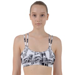 Great Seal Of France Line Them Up Sports Bra by abbeyz71