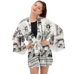 Great Seal Of France Long Sleeve Kimono by abbeyz71