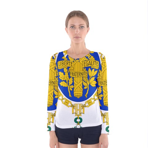 Coat O Arms Of The French Republic Women s Long Sleeve Tee by abbeyz71