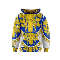 Coat O Arms Of The French Republic Kids  Pullover Hoodie by abbeyz71