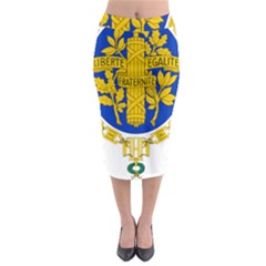 Coat O Arms Of The French Republic Midi Pencil Skirt by abbeyz71