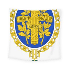Coat O Arms Of The French Republic Square Tapestry (small) by abbeyz71