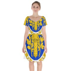 Coat O Arms Of The French Republic Short Sleeve Bardot Dress by abbeyz71