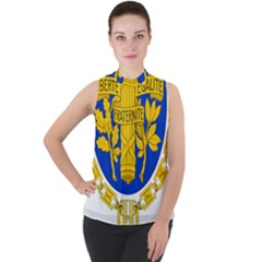 Coat O Arms Of The French Republic Mock Neck Chiffon Sleeveless Top by abbeyz71