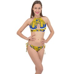 Coat O Arms Of The French Republic Cross Front Halter Bikini Set by abbeyz71