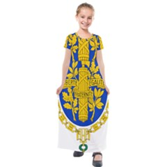 Coat O Arms Of The French Republic Kids  Short Sleeve Maxi Dress by abbeyz71