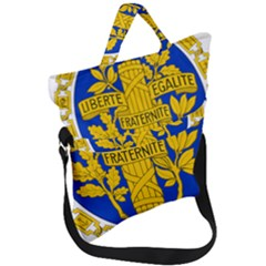 Coat O Arms Of The French Republic Fold Over Handle Tote Bag by abbeyz71