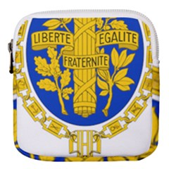 Coat O Arms Of The French Republic Mini Square Pouch by abbeyz71
