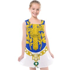 Coat O Arms Of The French Republic Kids  Cross Back Dress by abbeyz71