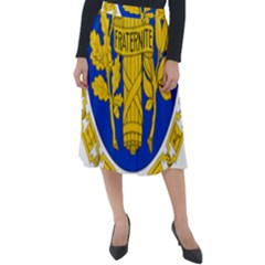 Coat O Arms Of The French Republic Classic Velour Midi Skirt  by abbeyz71