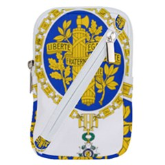 Coat O Arms Of The French Republic Belt Pouch Bag (large) by abbeyz71
