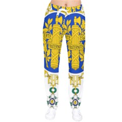 Coat O Arms Of The French Republic Women Velvet Drawstring Pants