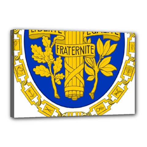 Coat Of Arms Of The French Republic Canvas 18  X 12  (stretched) by abbeyz71
