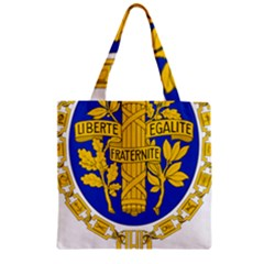 Coat Of Arms Of The French Republic Zipper Grocery Tote Bag by abbeyz71