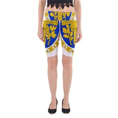Coat Of Arms Of The French Republic Yoga Cropped Leggings by abbeyz71