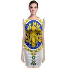 Coat Of Arms Of The French Republic Classic Sleeveless Midi Dress by abbeyz71