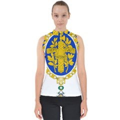 Coat Of Arms Of The French Republic Mock Neck Shell Top by abbeyz71
