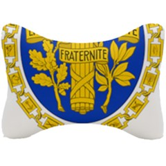 Coat Of Arms Of The French Republic Seat Head Rest Cushion by abbeyz71