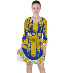 Coat Of Arms Of The French Republic Ruffle Dress by abbeyz71