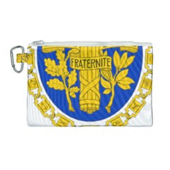 Coat Of Arms Of The French Republic Canvas Cosmetic Bag (large) by abbeyz71